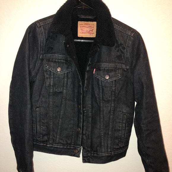 Levis Black Sherpa Jacket